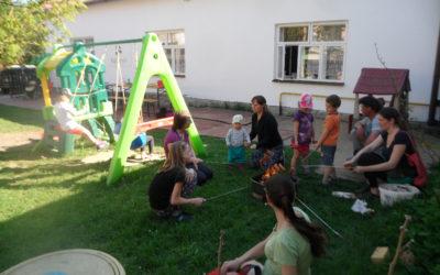 Táborák uprostřed léta
